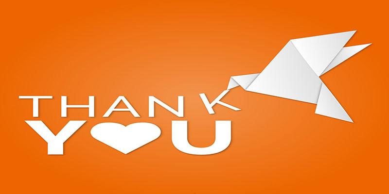 تشکر در نامه دوستانه
